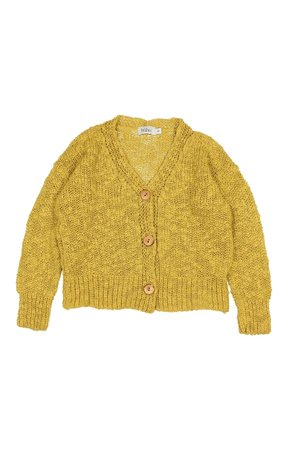 Buho Michelle knit cotton flamé cardigan - ocre