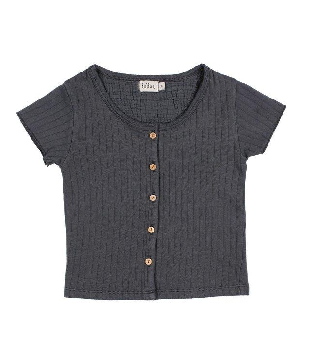 India rib tshirt - graphite