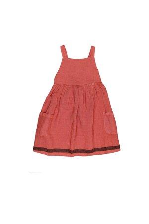 Buho Yvonne dungaree dress - brick