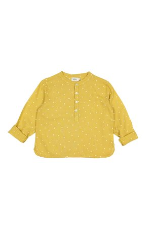 Buho Paul petit treats crepe shirt - ocre