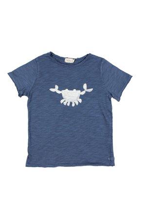 Buho Cesar crab tshirt  - indigo