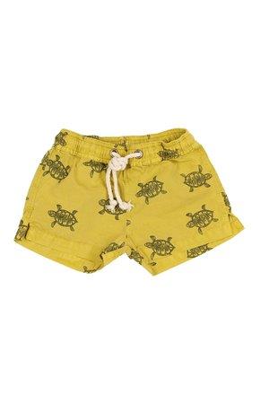 Buho Hansel Turtle swimsuit - ocre