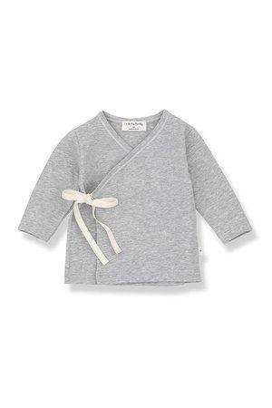 1+inthefamily Alba newborn shirt - grey melange