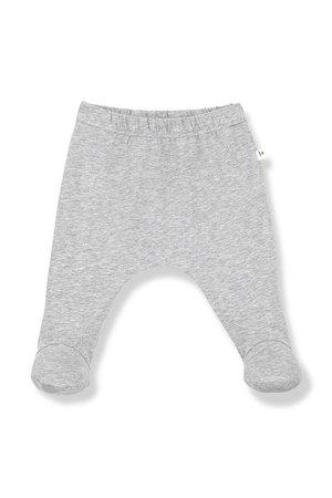 1+inthefamily Lua leggings with feet - grey melange