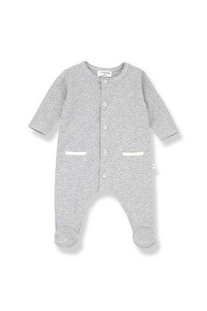 1+inthefamily Jad jumpsuit with feet - grey melange