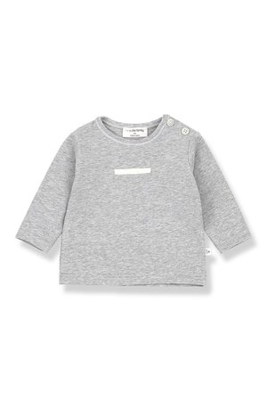 1+inthefamily Loise long sleeve t-shirt  - grey melange