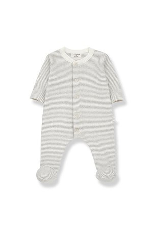 1+inthefamily Marcello jumpsuit with feet - ecru