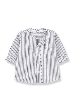 1+inthefamily Amalfi shirt - azzurro