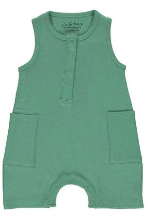 Fin & Vince Short jumpsuit - schoolhouse green