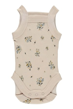 Fin & Vince Chunky strap onesie - pretty in floral