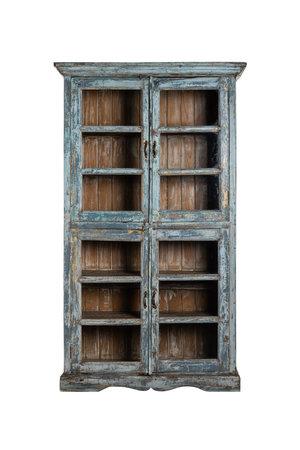 Glass cabinet India #1 - blauw