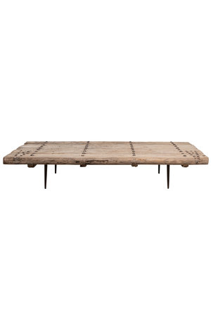 Coffee table elm wood old door - 177cm