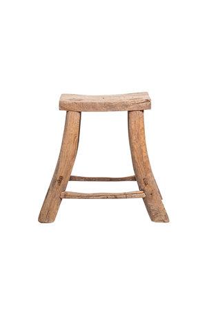 Elm wood antique stool #19