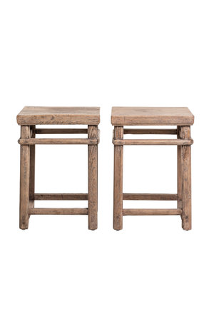 Unique set bedside tables elm wood