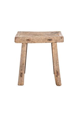 Bedside table square, elm wood #2