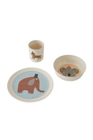 OYOY MINI Hathi bamboo tableware set