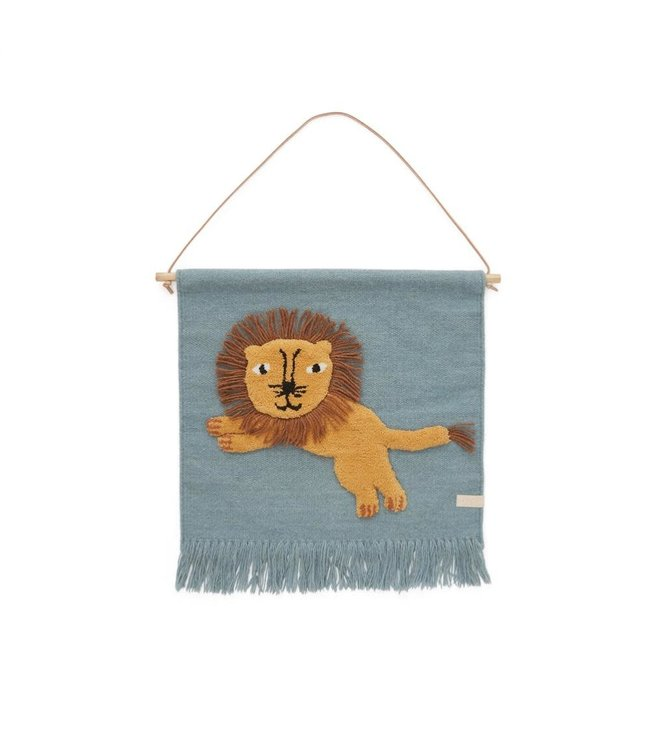 OYOY MINI Jumping lion wallhanger