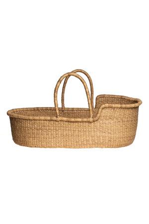 Bolga Mozes basket with natural handles