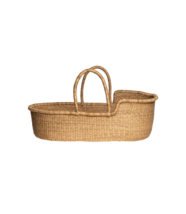 Bolga Mozes basket with natural handles
