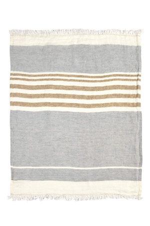 Libeco The Belgian towel-  fouta - ash stripe