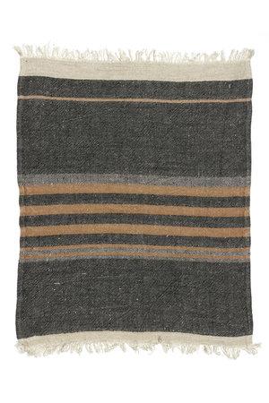 Libeco The Belgian towel - fouta - black stripe
