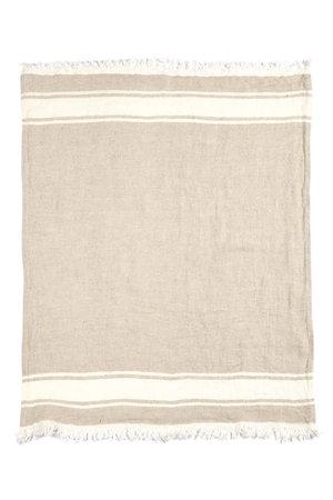 Libeco The Belgian towel - fouta - flax stripe