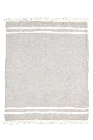 Libeco The Belgian towel - fouta - gray stripe
