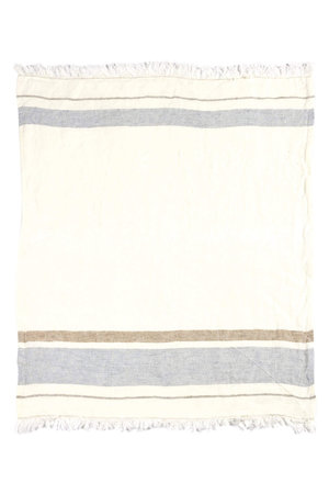 Libeco The Belgian towel - fouta - oyster stripe