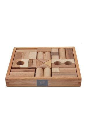 Wooden Story Houten blokken in bewaardoos 30 stuks