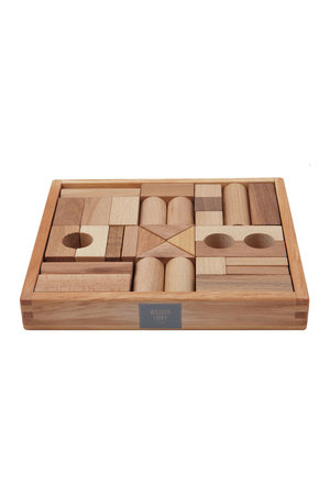 Wooden Story Natural blocks in tray 30 pcs