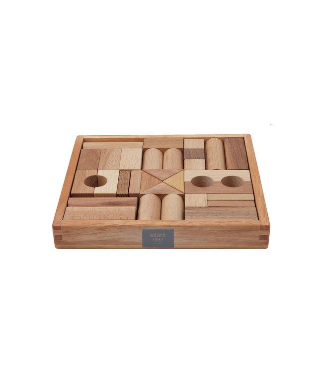 Natural blocks in tray 30 pcs