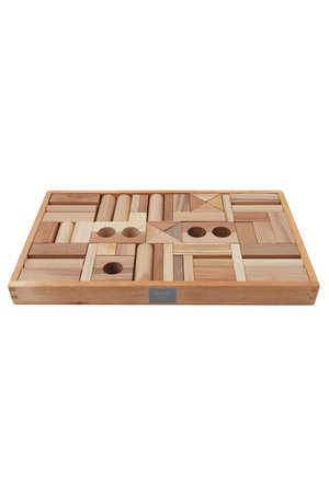 Wooden Story Natural blocks in tray 54 pcs