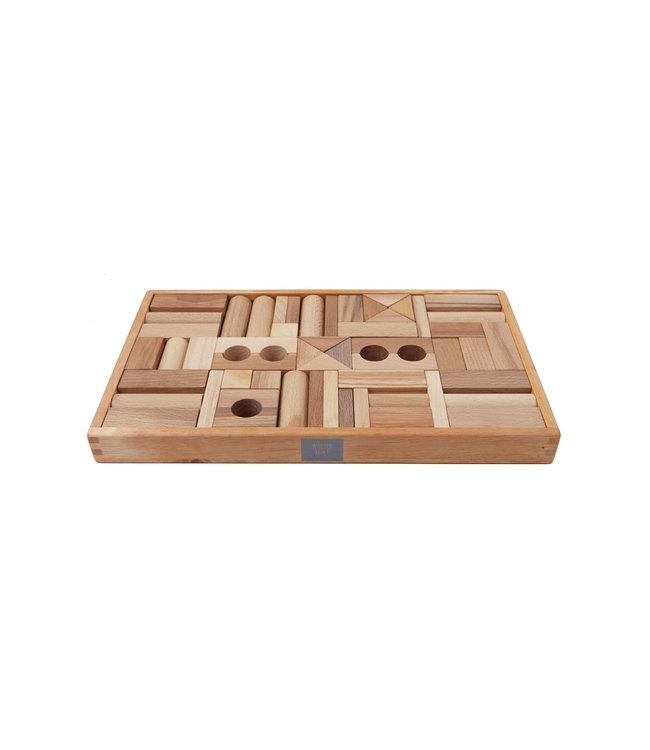 Wooden Story Houten blokken in bewaardoos 54 stuks