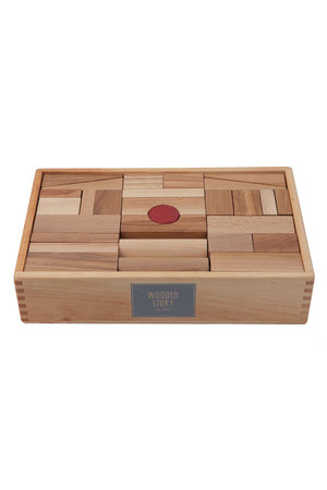 Wooden Story Natural blocks in tray 63 pcs