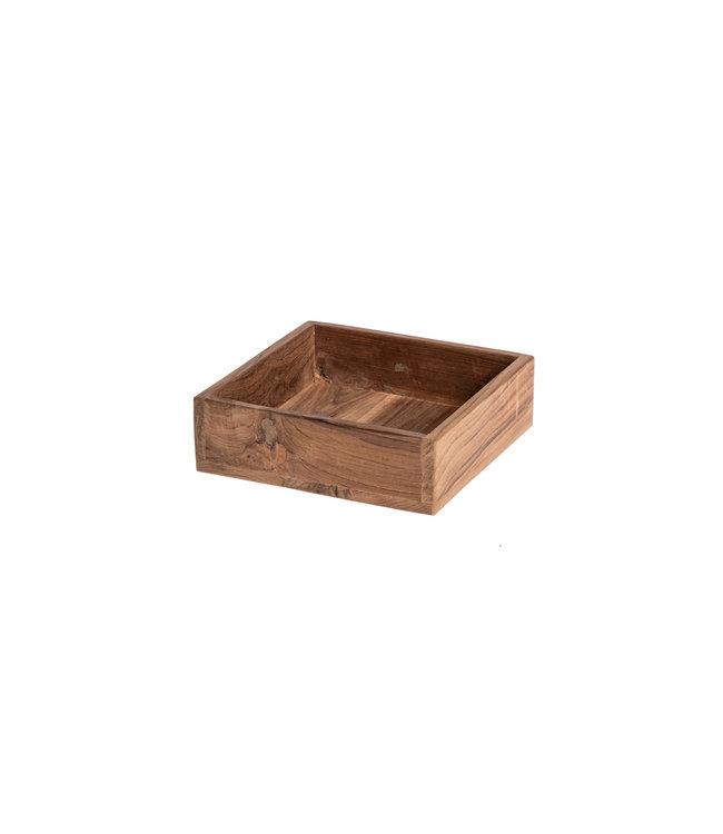 Square tray teak S