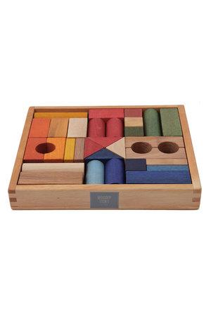 Wooden Story Rainbow blocks in tray 30 pcs