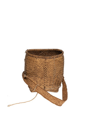 Couleur Locale Handwoven carrying basket Pa-O , Myanmar #1
