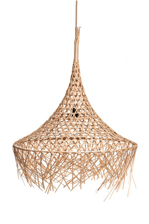 Couleur Locale Bamboo hanging lamp with fringes