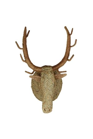 Seagrass animal head deer