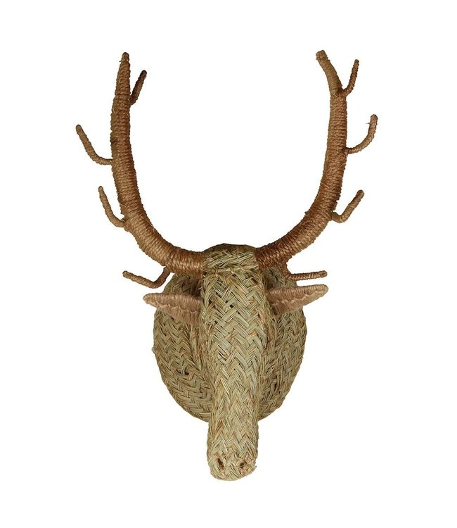 Seagrass animal head deer