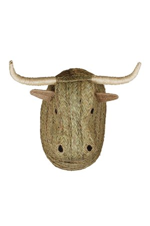 Seagrass animal head bull