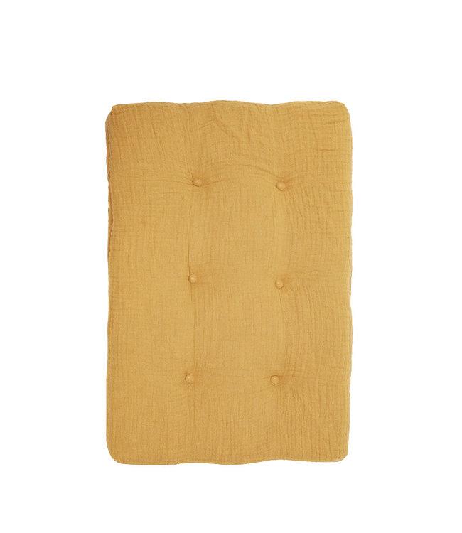 Poppenwagen matras - mustard