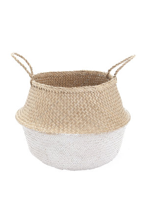 Belly rice basket - white L