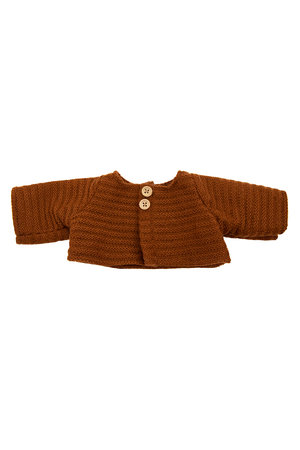 Olli Ella Dinkum dolls single cardigan - chesnut