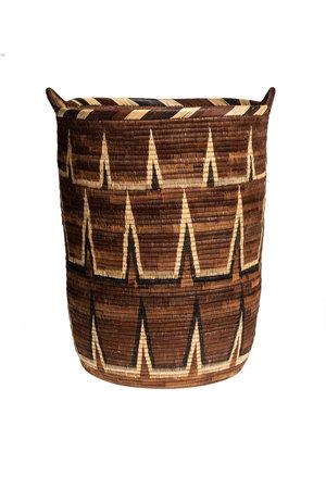 Considered by real Ialibu hoge mand met handvaten basket L #6