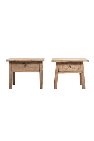 Pagoda Set bedside tables with drawer #2