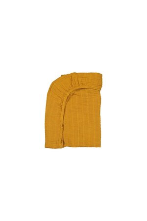 Moumout House changing mat fitted sheet - mustard