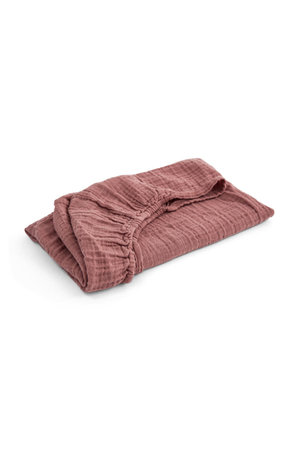 Moumout House changing mat fitted sheet - terracotta
