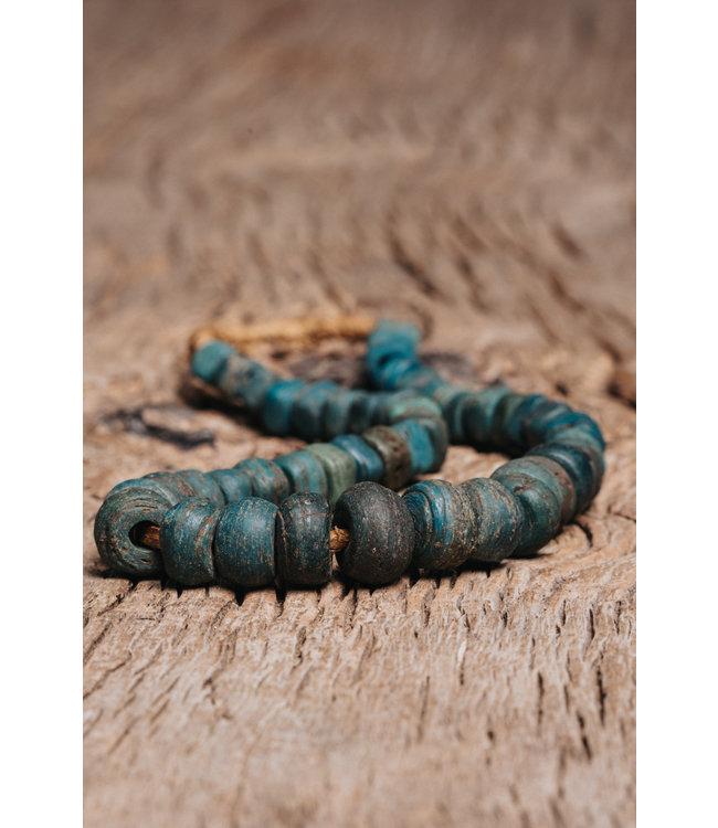 Original Hebron trade beads blue-green #1