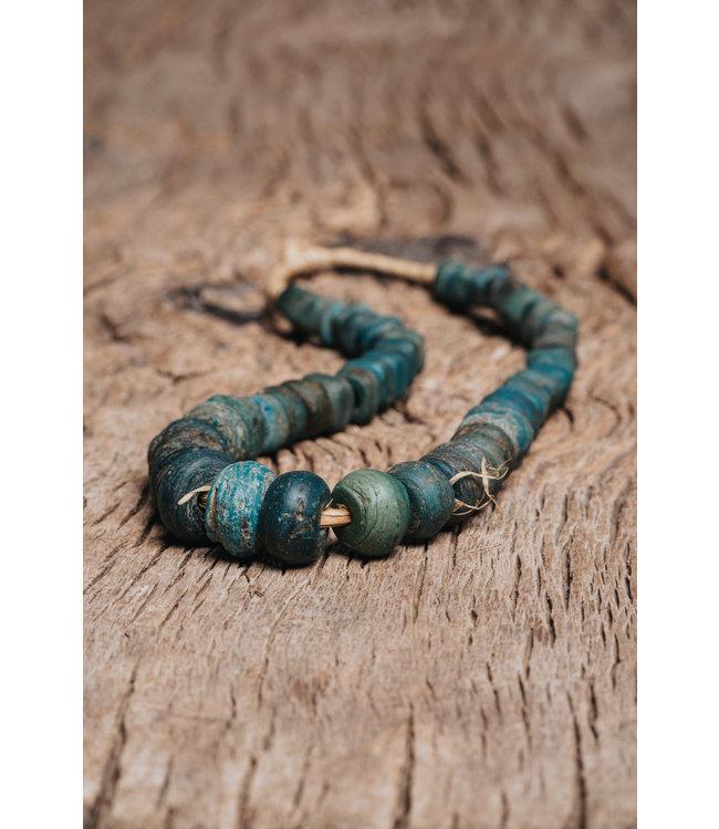 Original Hebron trade beads blue-green #3
